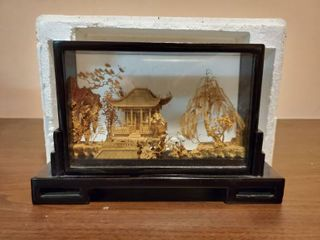 Carved Wooden Chinese Scenery