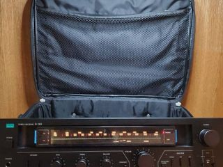 Sansui Stereo Receiver in Traveling Case Tested and Working with SpeakerWire