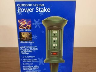 Outdoor 3  Outlet Power Stake