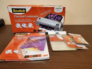 Scotch Thermal laminator with 4 Packs of Pouches
