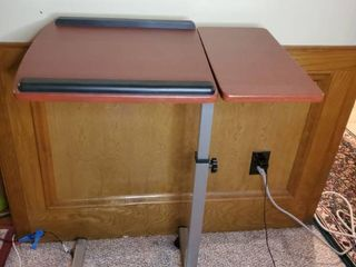 Adjustable height and Tilting Tray Table with Casters