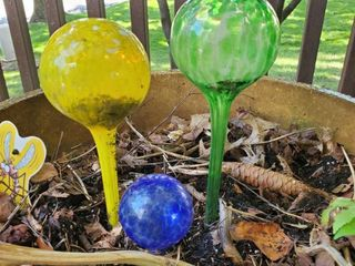 Green  Yellow  and Blue Water Globes