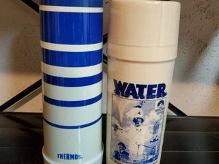 lot of 2 Vintage Thermos
