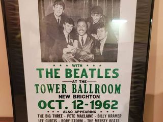 Beatles Add with little Richard Framed