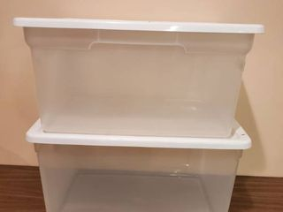 2 White lid Steralite Totes
