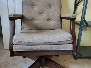 Wooden Frame Vintage Office Chair
