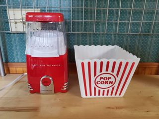 Nostalgia Hot Air Popper and Pop Corn Bucket