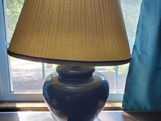Royal Blue lamp with Brass Base