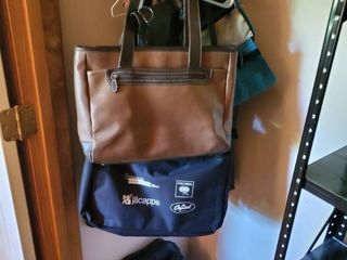 lot of laptop Bags and Purses