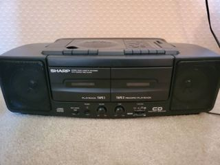 Sharp Stereo Cassette Recorder with Compact Disc Player Tested and Working