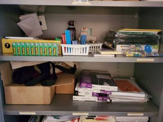 Mega lot of Office Supples   Staples  Tacs  Note Pads  Folders  Scotch Tape and More