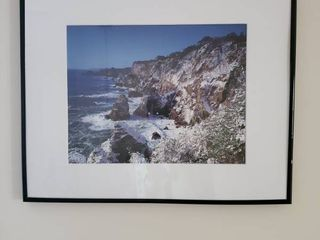 Seaside Moutain Cliffs Framed Photo