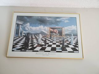 Window of Reality By Jim Todd Chess Art Framed