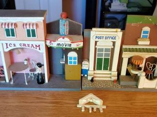 lo of 2 Small Wooden Town Movie and Post Office