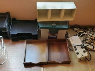 Mega lot of Office Storage Makers  with Office Cords and Powers Supplies