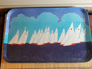 luciano Roselli Sailboat Serving Tray