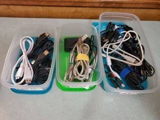lot of Cords   USB to External HD  USB A to USB B   and USB A to Mini A