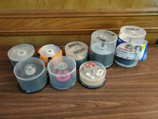 lot of Blank Discs  DVDr Amd CDr