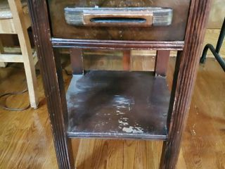 Antique Wooden Nightstand   Dovetail Draws