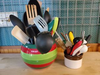 lot of Kitchen Utensils and Bowls