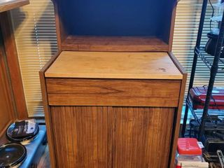 Microwave Cabinet with Butchers Block Station   Contents Not Included
