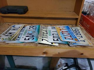 lot of licence Plates 16 Total