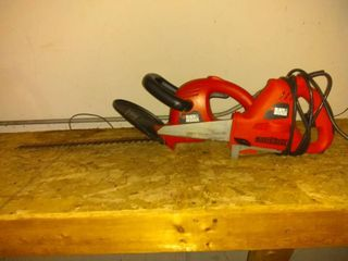 Pair Of Black   Decker Accessories 18  Hedge Trimmer And Jigsaw
