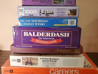 lot of Vintage Board Games and Puzzles