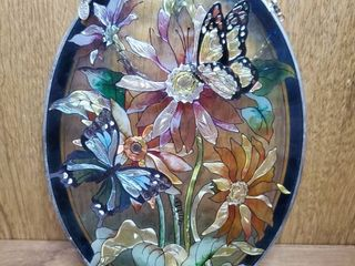 Kathleen Denise Stain Glass Butterdly Hanging Decor i