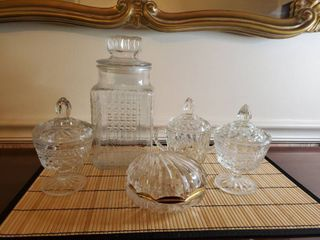 5 Piece Crystal Kitchen Serving Dishes