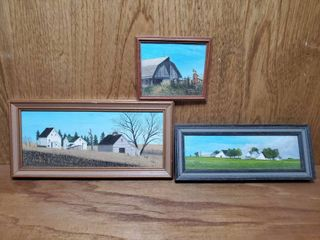 lot of 3 Small Paintings by Kevin Casey