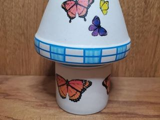 Small Butterfly HERITAGE Pottery T light BUTTERFlY lamp  2 Pieces