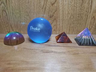 lot of 4 Paperweights  1 Drake and 3 Colorful