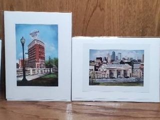lot of 4 Small Prints of Original Oil Paintings of Kansas City  by Constance legler Smith