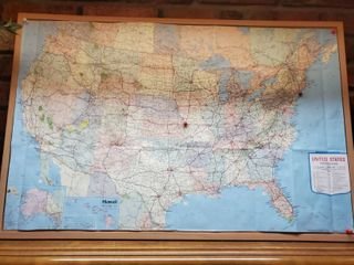 United States Map on Peg Boards