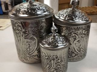 Old Dutch 3 Piece Art Nouveau Canister set