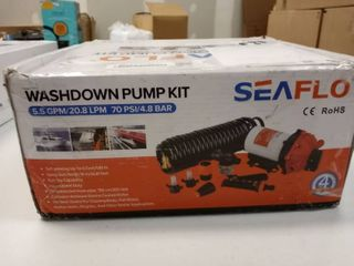 Seaflo 70 PSI Washdown Deck Wash Pump KIT 12v 5 5 GPM for Caravan Rv Boat Marine Yacht