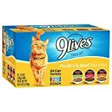 9 lives Poultry And Beef Variety Pack  5 5 Oz Cans  24 Count