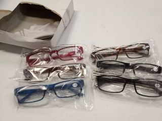 6 Pack Reading Glasses by BOOST EYEWEAR