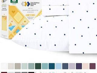 California Design Den 400 Thread Count 100  Cotton Sheets