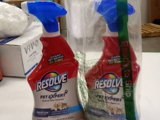 Resolve Pet Carpet Spot   Stain Remover Spray  22oz  Pack of 2