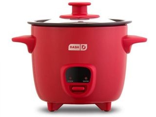Mini Rice Cooker Steamer with Removable Nonstick Pot