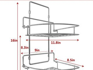 Vdomus Strong Shower Caddy 2 Tier Bathroom Corner Shelf Organizer