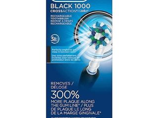 Oral B 1000 CrossAction Electric Toothbrush  Black  Powered by Braun