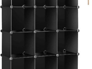 TomCare Cube Storage 12 Cube Bookshelf Closet Organizer