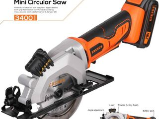 EREBUS 97630 Circular Saws  20V 3400RPM 4 1 2  Professional Cordless Circle Saw