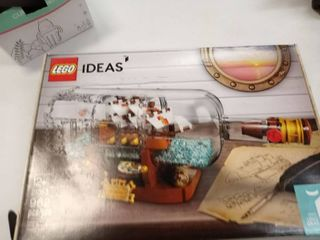 lEGO Ideas Ship in a Bottle 21313 Expert Building Kit  Snap Together Model Ship
