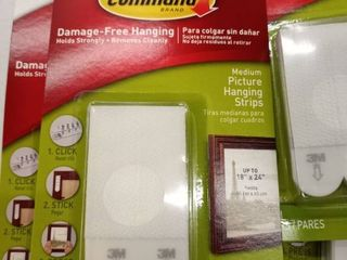 Command 12 lb Picture Hanging Strips  Medium  5 package  White