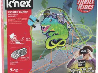 K NEX Thrill Rides a Twisted lizard Roller Coaster Building Set