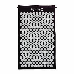 ProsourceFit Acupressure Mat and Pillow Set for Back Neck Pain Relief and Muscle Relaxation  Black